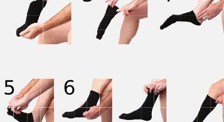 ¿Cómo ponerse un calcetín de compresión?