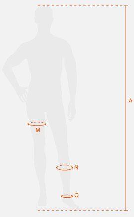 Tallaje pantalón recuperación X-bionic hombre
