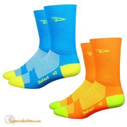 "Calcetines ciclismo Defeet Aireator 5"" D-Logo Hi-Vis - Double Layer Cuff"